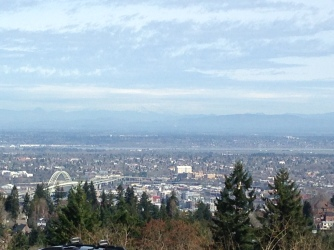 The awaiting view from Council Crest.