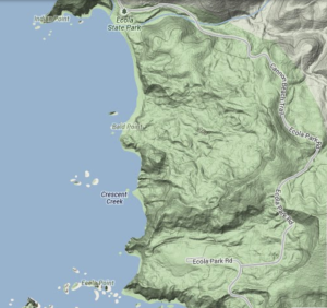 Ever notice how the map of Ecola State Park looks like a man's profile? Me neither!