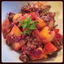 Chia seed fruit cobbler