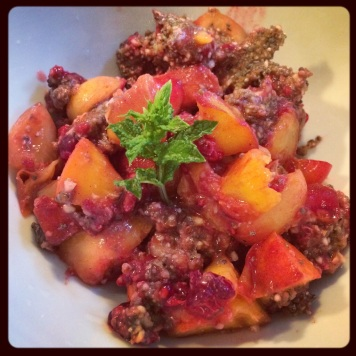 Chia seed fruit cobbler