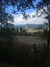 Beacon Rock across the river
