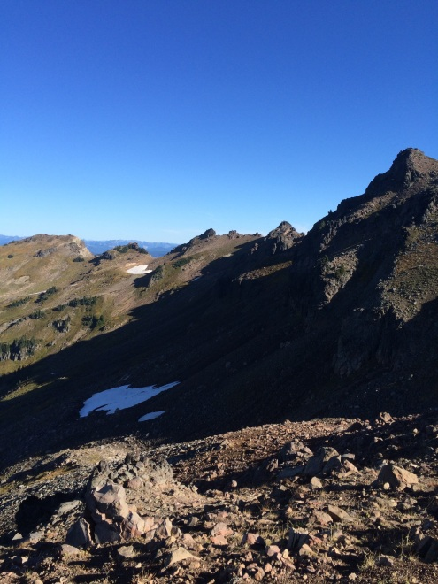 See what white speck on the right side? Yup, it's a mountain goat! Goat Rocks Wilderness, Gifford Pinchot National Park