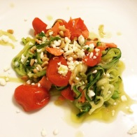 First stab at zucchini noodles was a resounding success