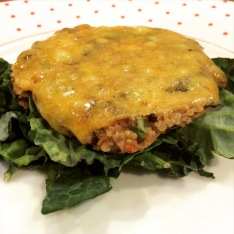 Veggie Burger (would have been vegan, but I had to add cheese)