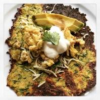 """Zucchini """"tortilla"""" and breakfast burrito"""
