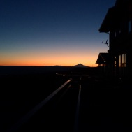 Mt. Hood's profile from Maryhill Winery (Columbia River Gorge, WA side)